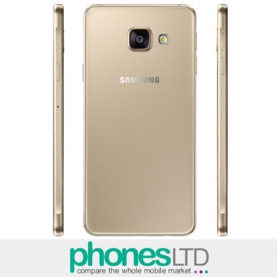 Gold Samsung Galaxy A3 2016