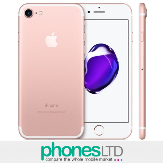 iphone 7 rose gold 128gb deals compare uk prices for contracts upgrades phones ltd. Black Bedroom Furniture Sets. Home Design Ideas