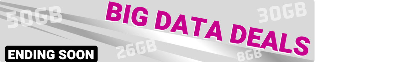 Big data deals (50GB, 26GB, 30GB) Ending Soon