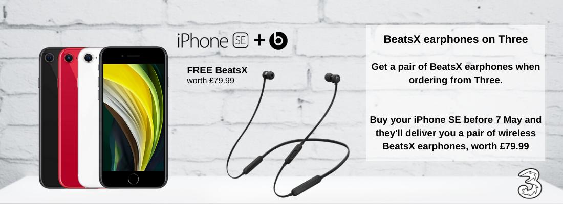 iPhone SE deals with Free BeatsX Wireless Earphones