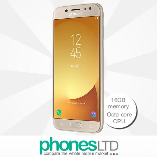 Compare Samsung Galaxy J5 2017 Gold Tesco Mobile Deals