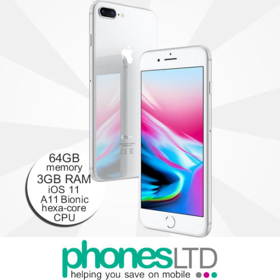 Iphone 8 Plus 64gb Silver Deals Compare Lowest Uk Prices Phones Ltd