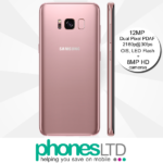 Samsung Galaxy S8 64GB Rose Pink Gold contract deals