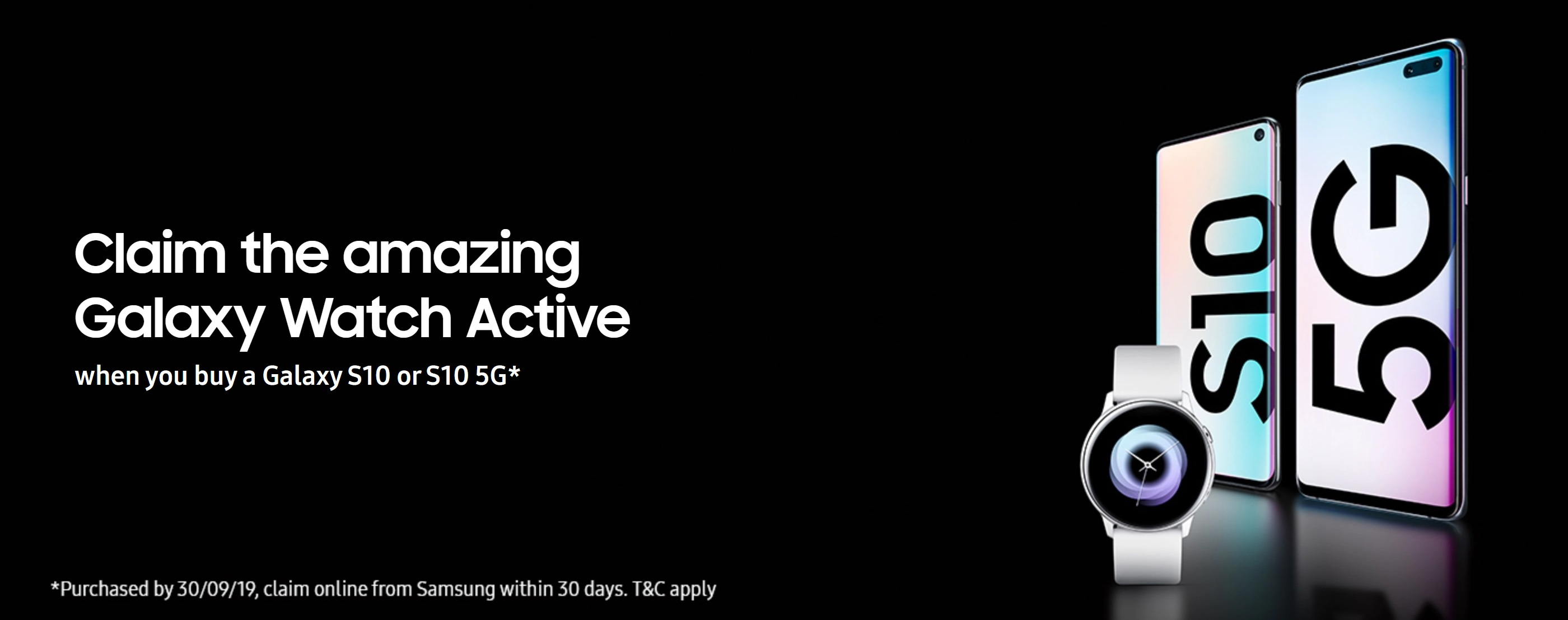 Claim a Free Galaxy Watch Active with Samsung S10 contract deals