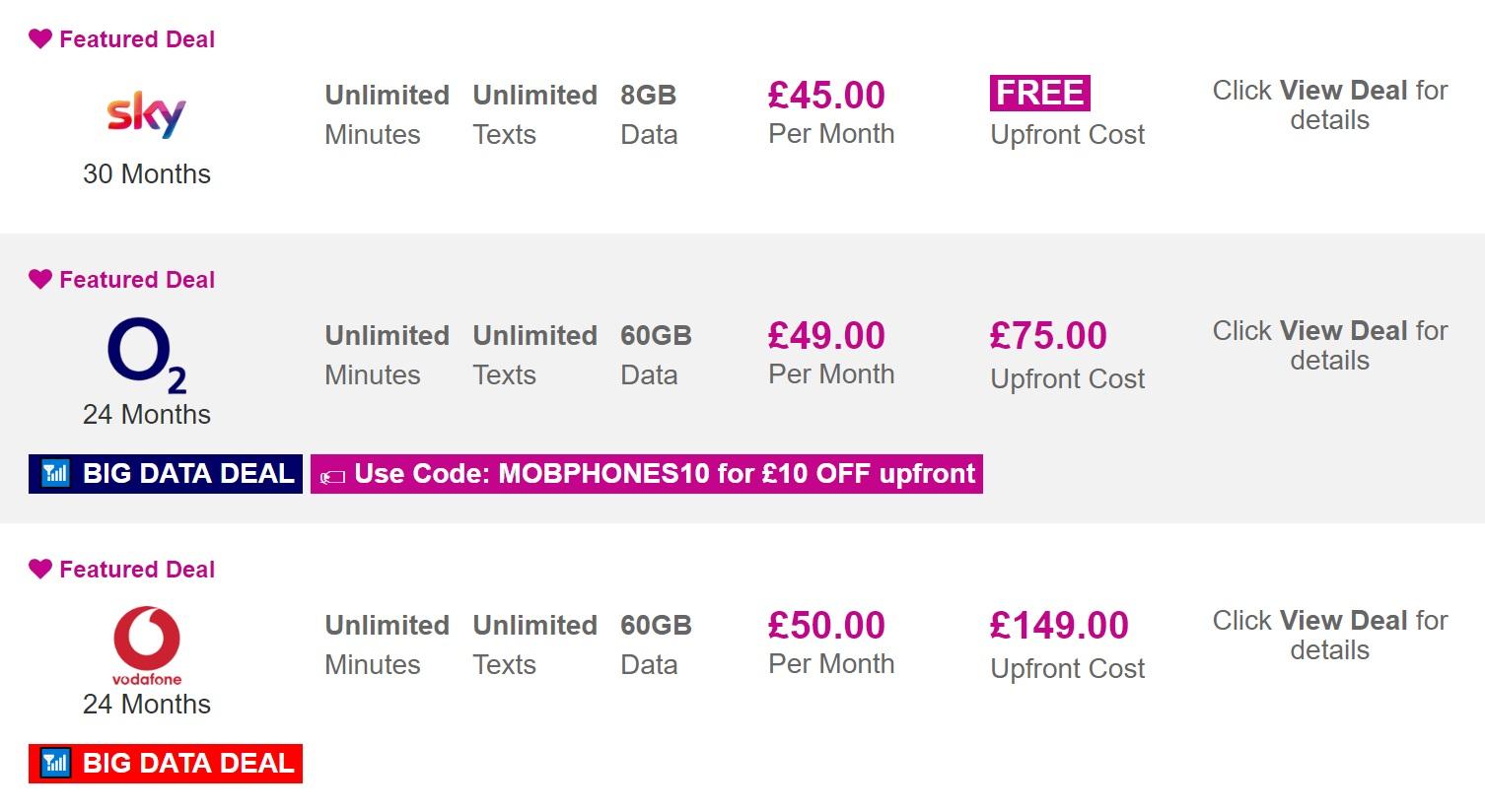 iPhone XS best UK deals today