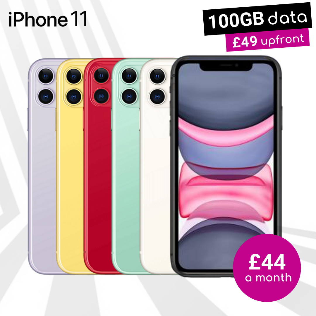 iPhone 11 contract deals with 100GB monthly data