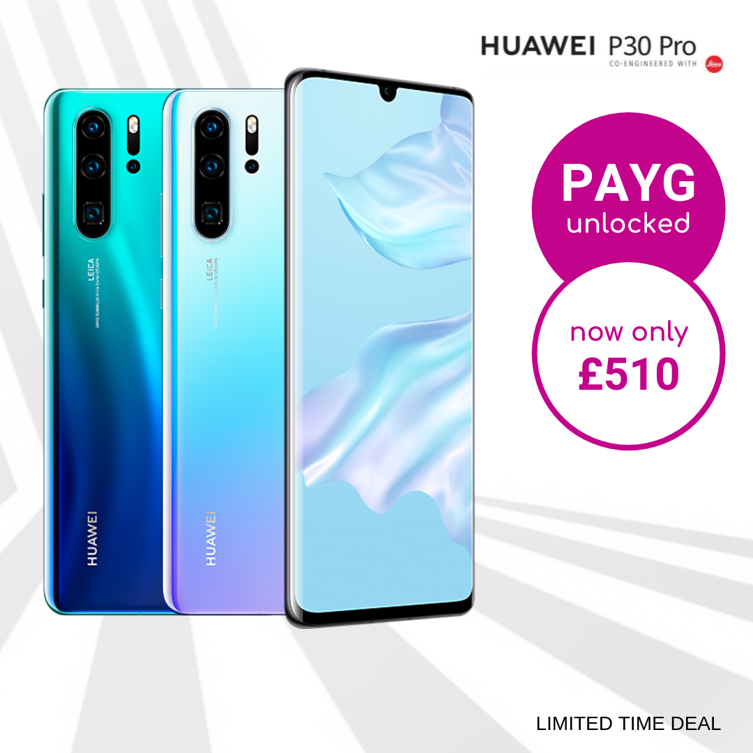 Huawei P30 Pro Pay As You Go Unlocked Sale
