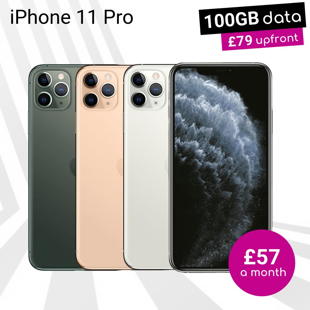iPhone 11 Pro 100GB data deals