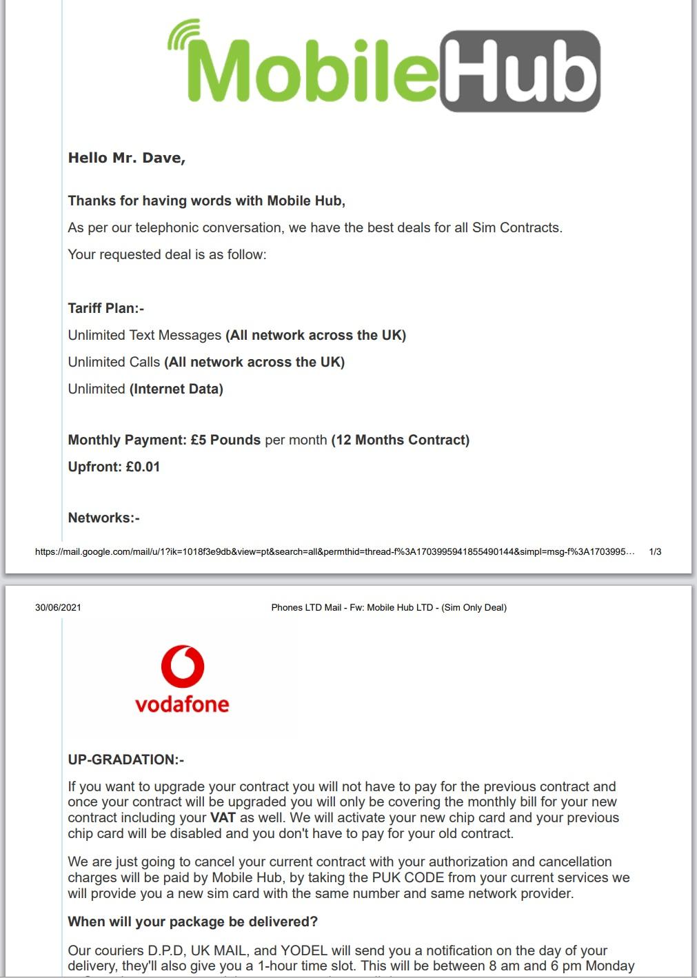 Mobile Scam - Mobile Hub LTD
