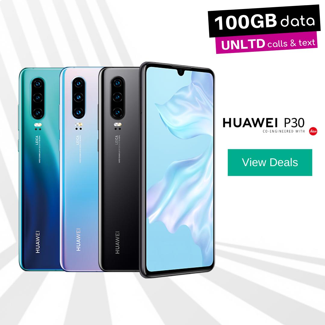 Huawei Sale - Huawei P30 100GB data deals