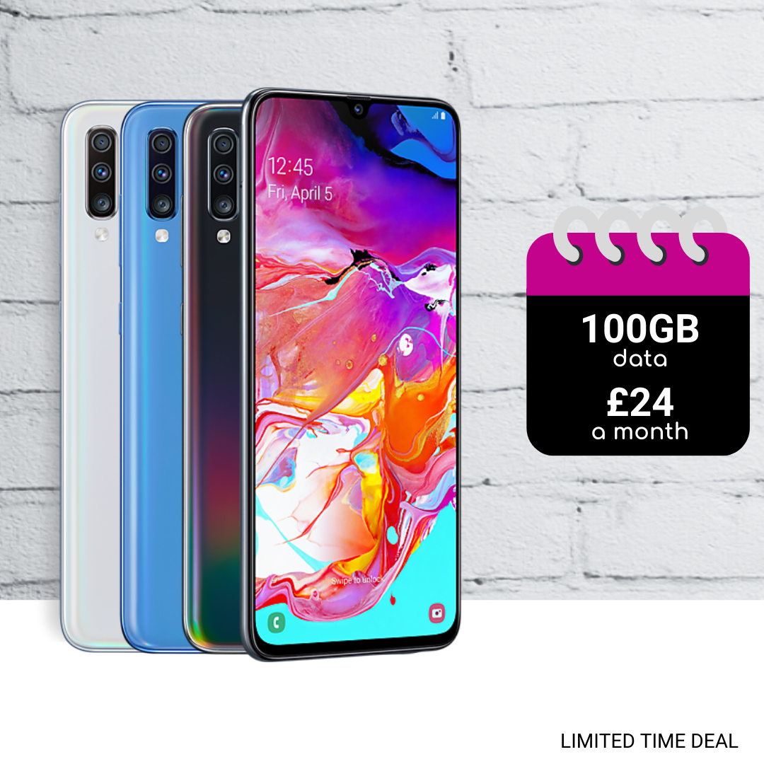 Samsung A70 cheapest contract deals today