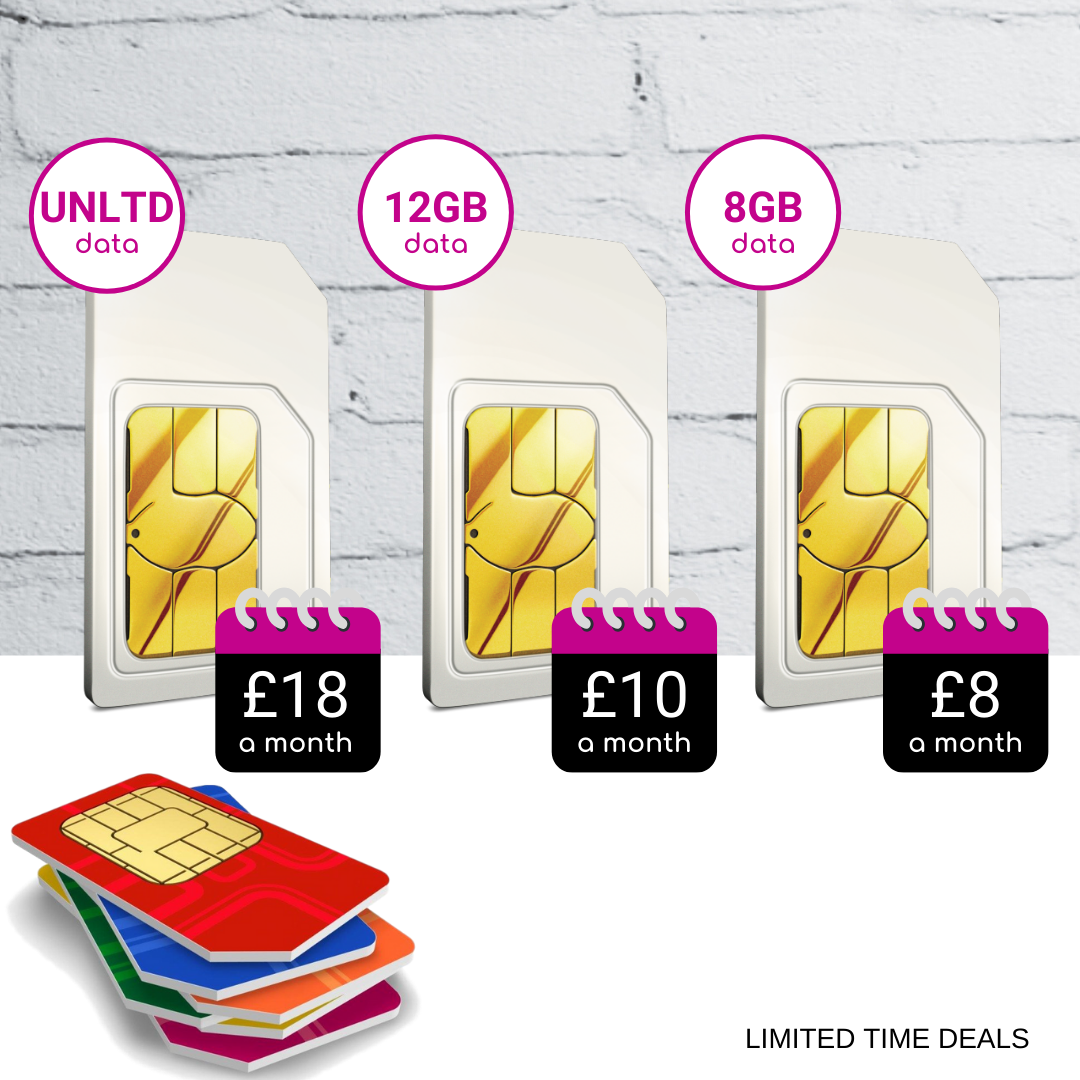 Compare the best SIM Only deals, SIM Card Only deals offering 8GB, 12GB and Unlimited Data each month