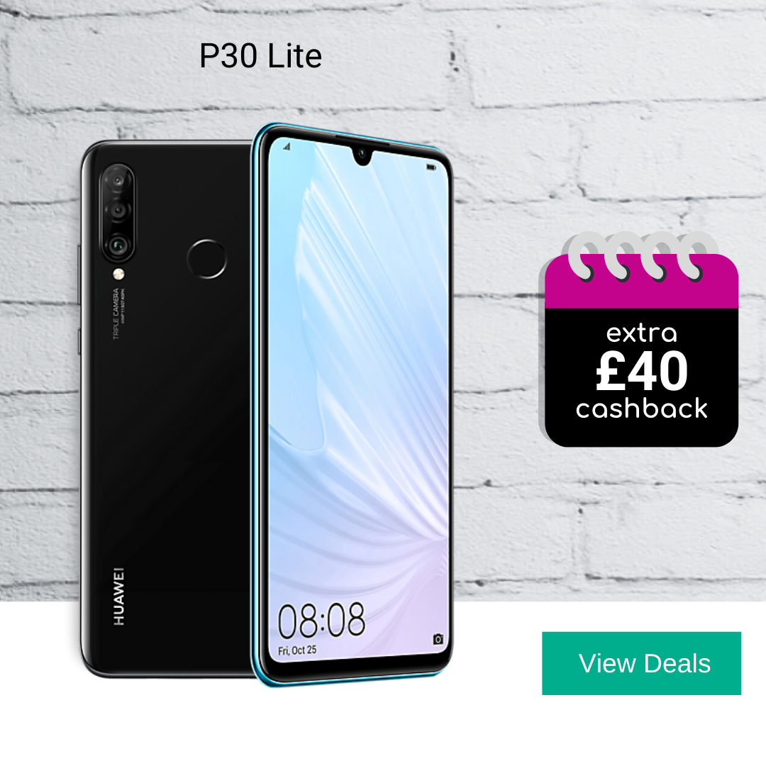 Huawei P30 Lite deals with £40 cashback
