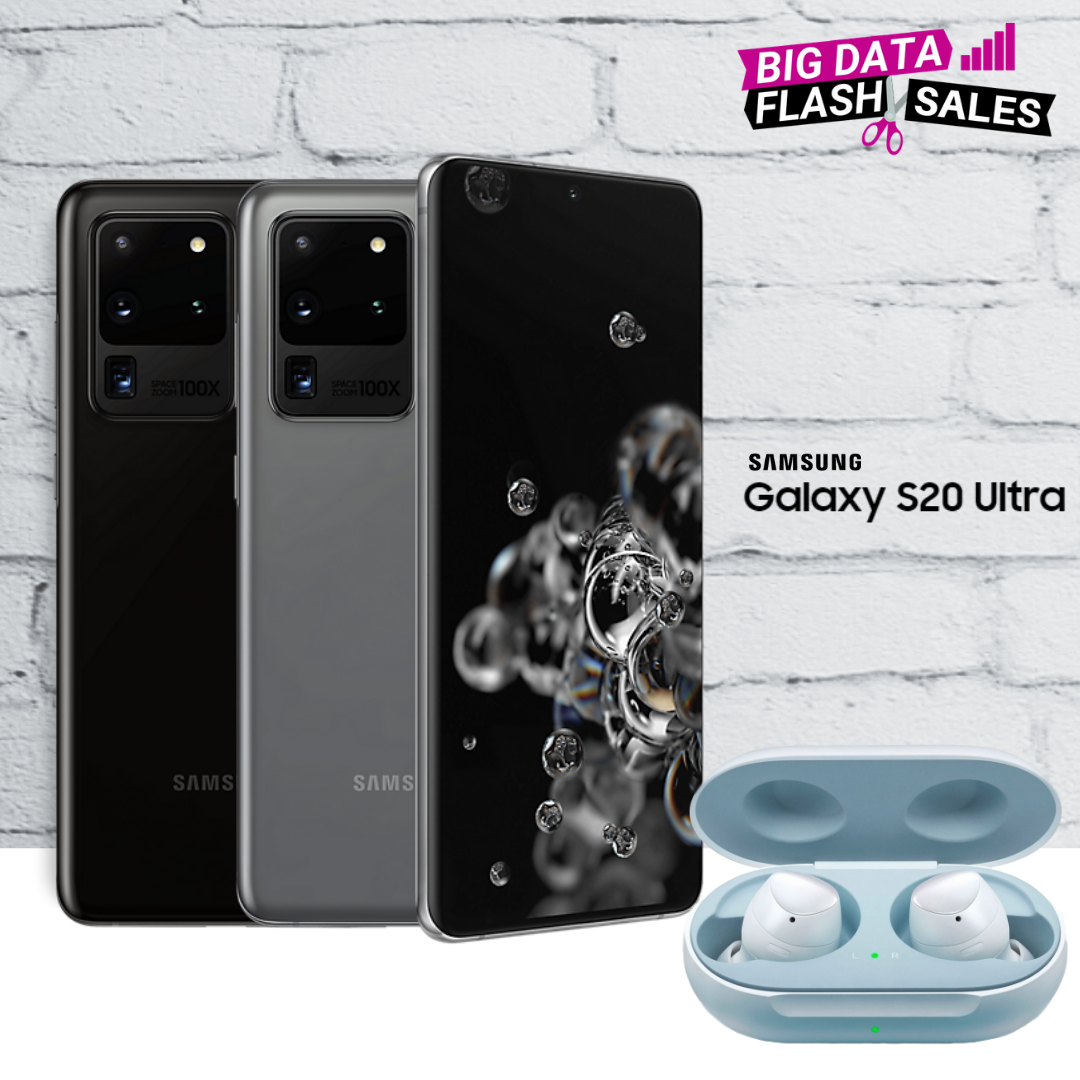 Best deals for Samsung S20 Ultra with Free Galaxy Buds+