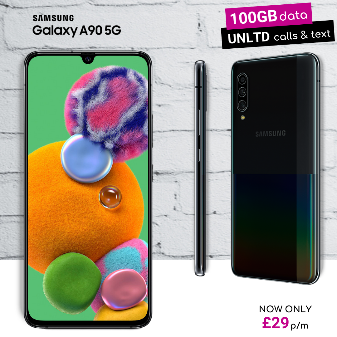 Best contract deals for Samsung A90 5G