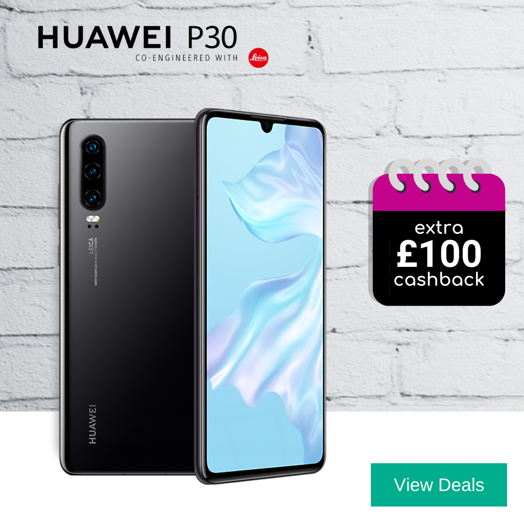 Best deals for Huawei P30 with 100GB data every month