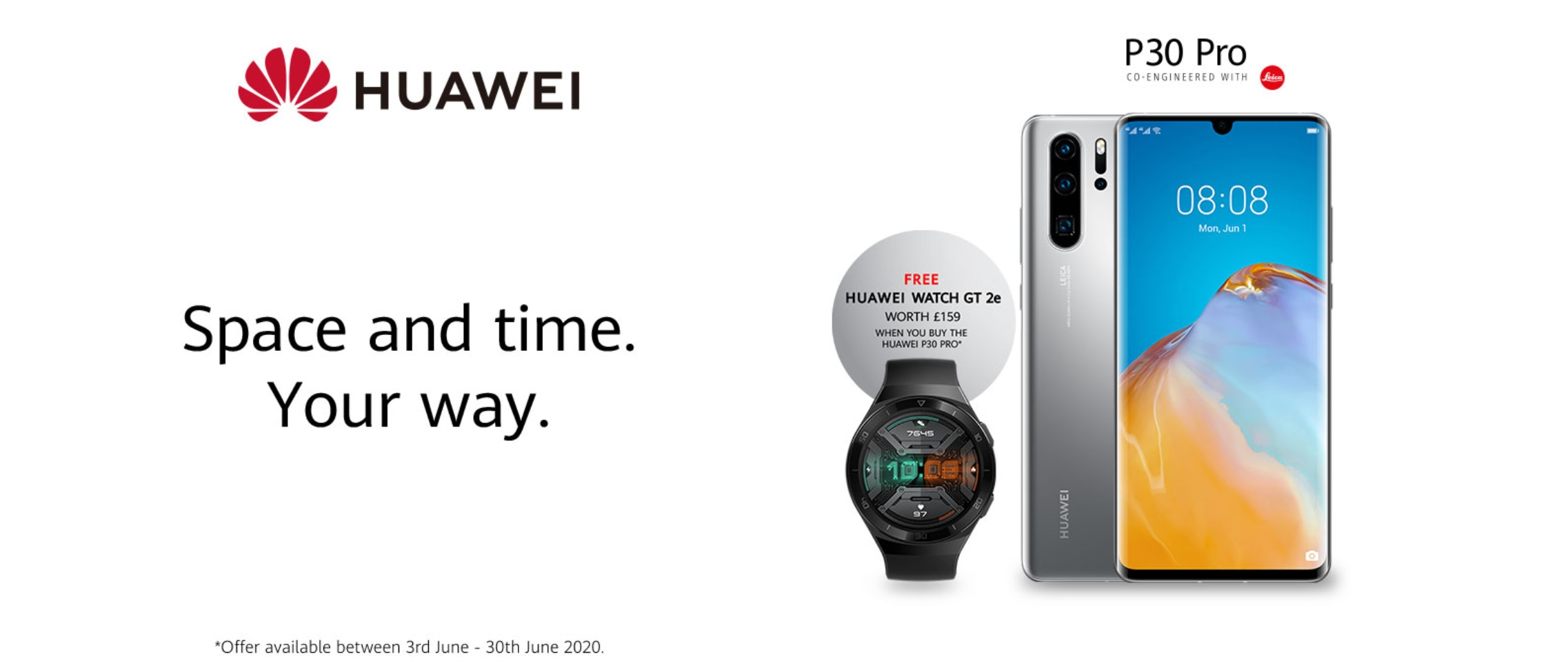 Huawei P30 Pro New Edition 2020 with Free Huawei Watch GT2