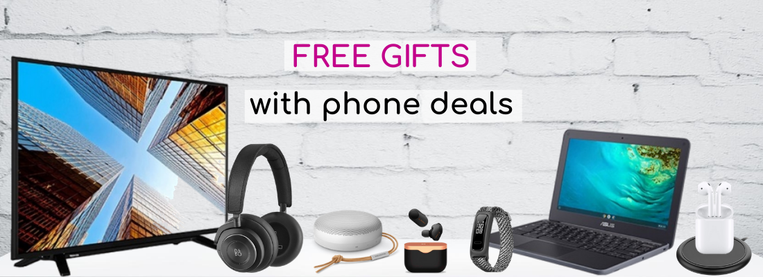 Selected phone contract deals with free gifts