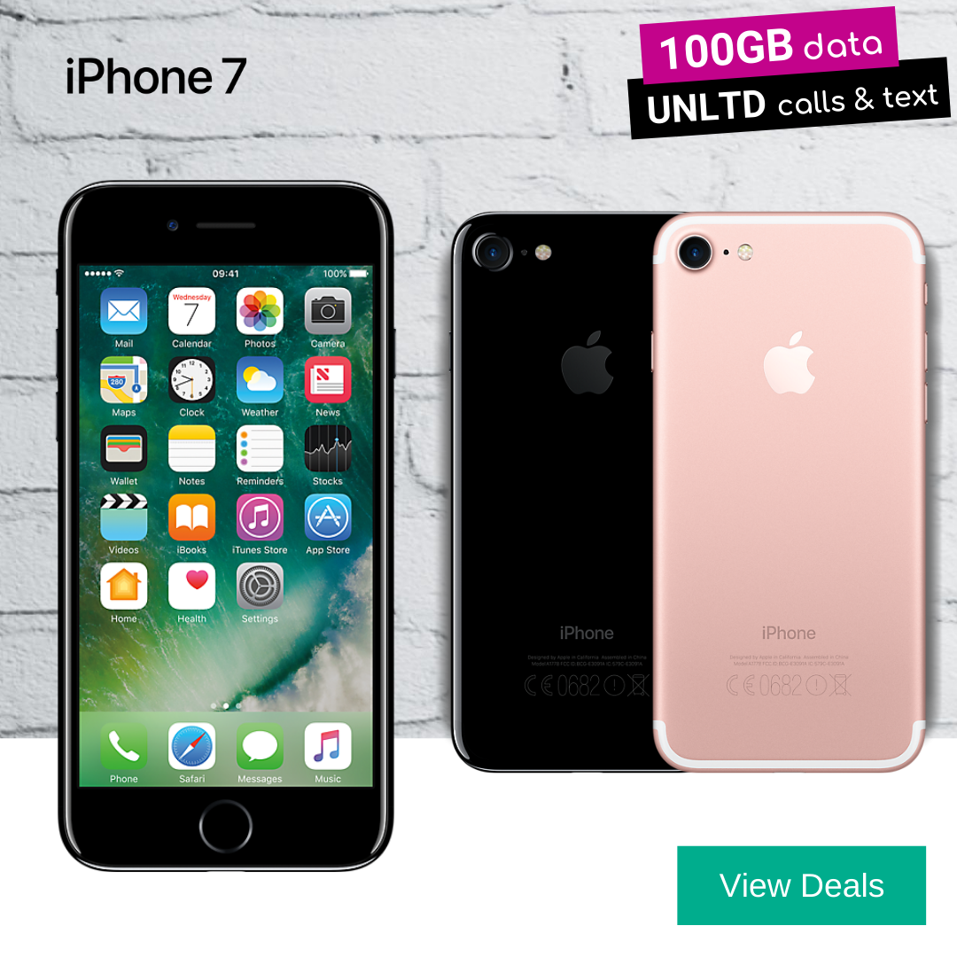 100GB monthly data deals for iPhone 7