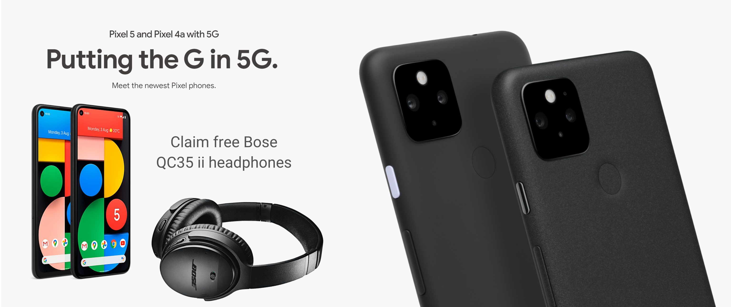 Claim free Bose headphones with Google Pixel 5 5G and 4A 5G deals