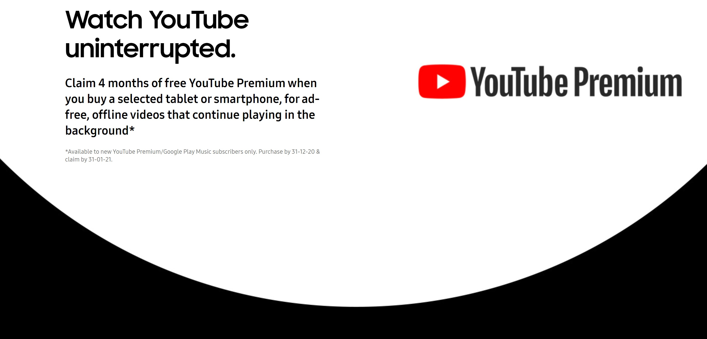 Samsung S20 and S20 Plus (S20+) deals with 4 months free YouTube Premium