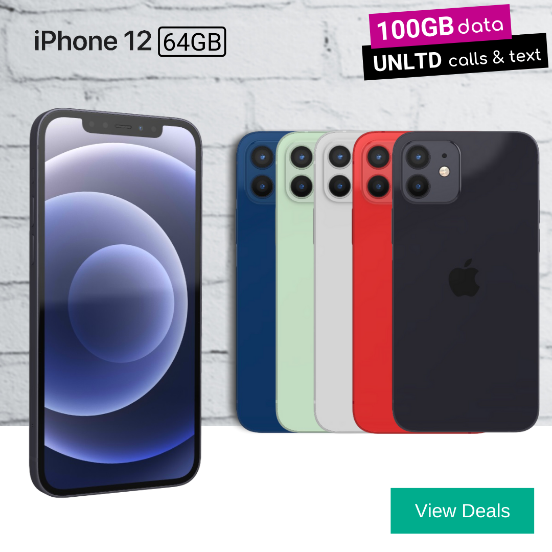 Compare best contract deals for iPhone 12 64gb