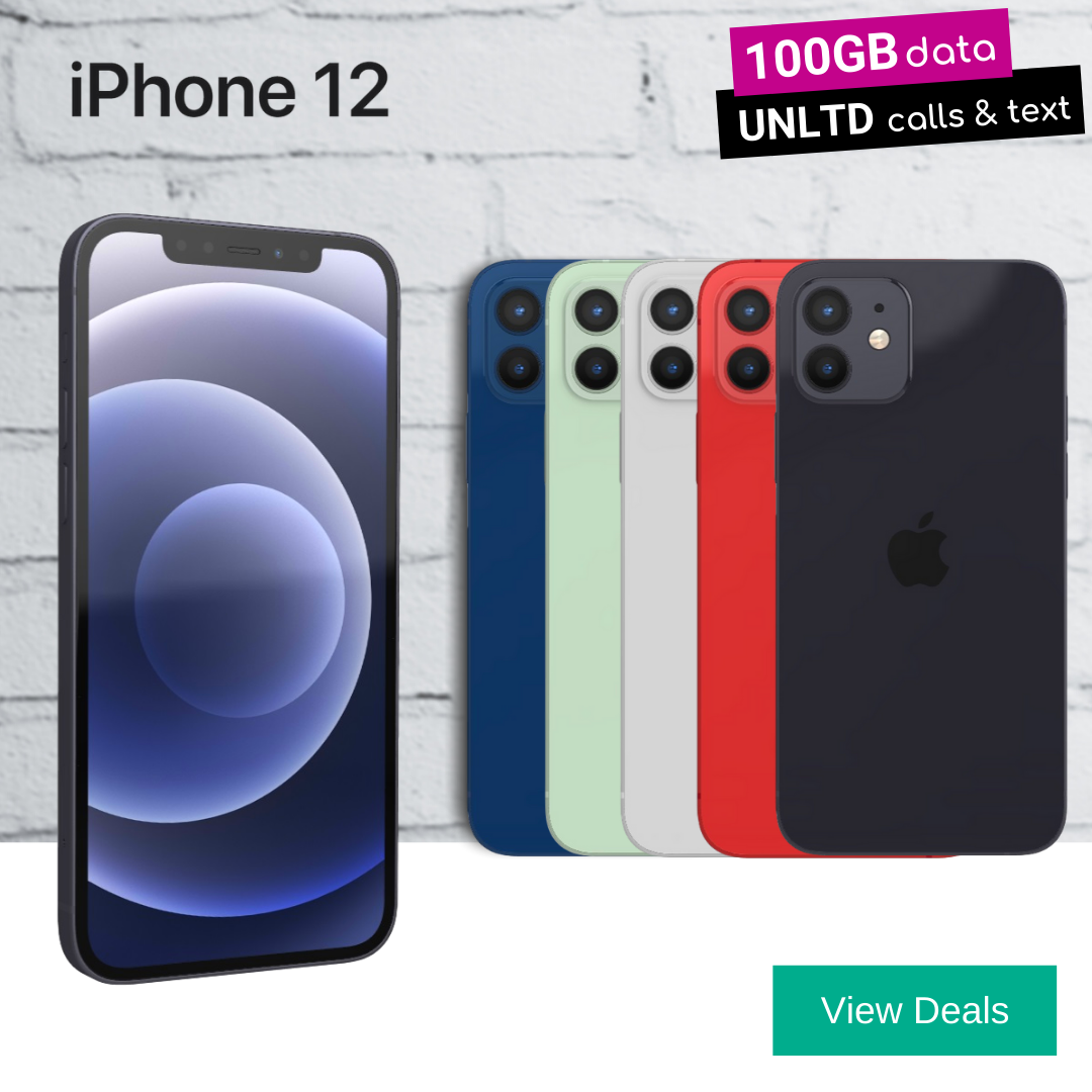 Cheapest iPhone 12 contract deals with 100GB 5G data