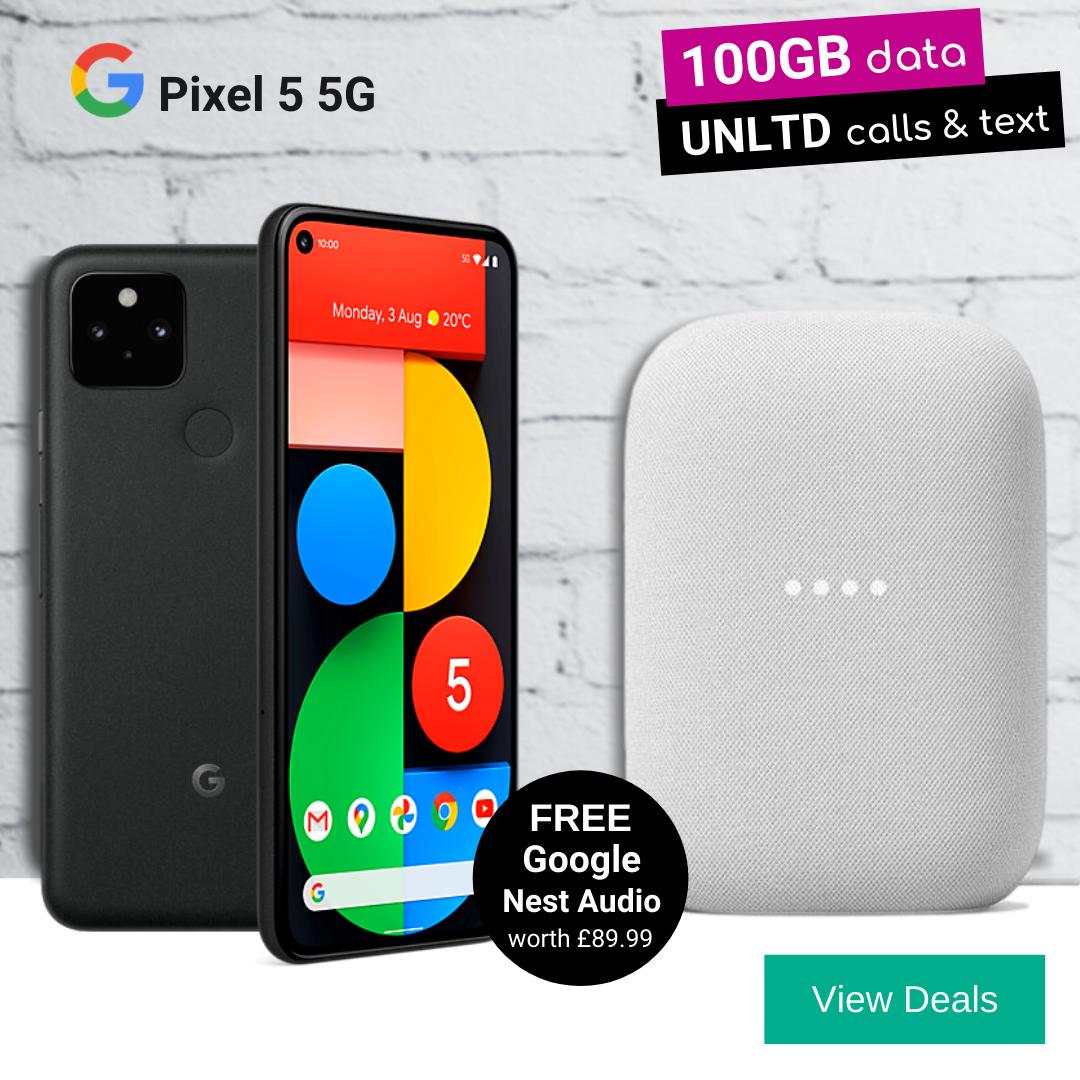 Free Google Nest Audio with Pixel 5 5G Deals