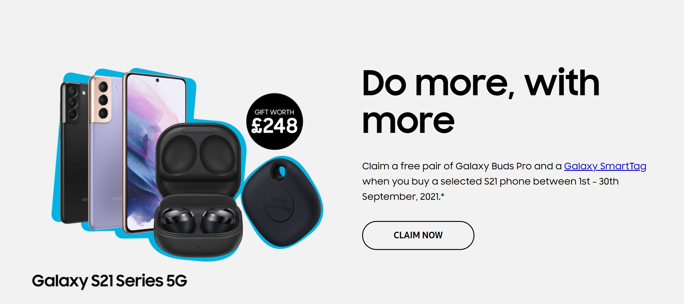 Free Galaxy Buds Pro and Smart Tag worth £248 with Samsung S21, S21+ and S21 Ultra deals