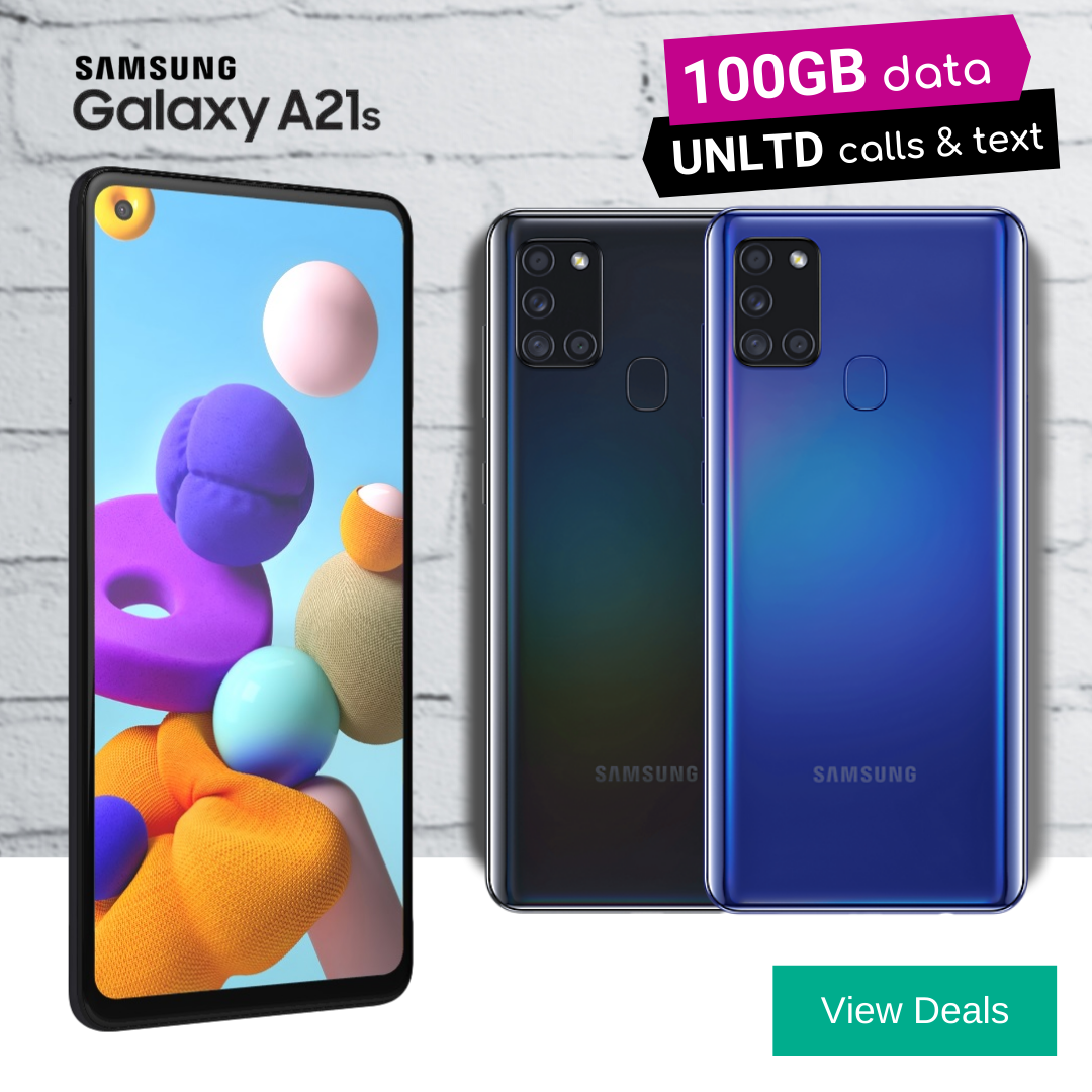 Samsung A21s Deals with 100GB Data