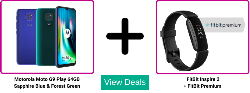 Claim a Free FitBit Inspire 2 and 12 months Free FitBit Premium with Moto G9 Play deals