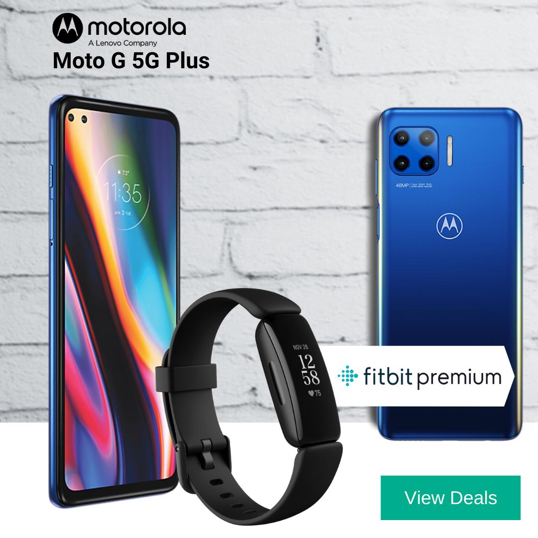 Free FitBit Inspire 2 + 12 Months Free FitBit Premium with Motorola Moto G 5G Plus deals