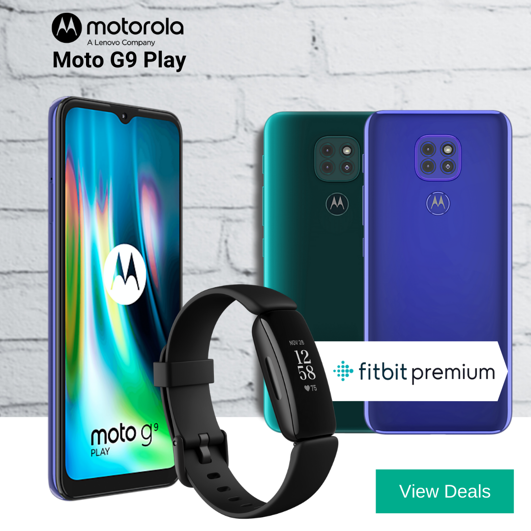 12 Months Free FitBit Premium and Free FitBit Inspire 2 with Moto G9 Play deals