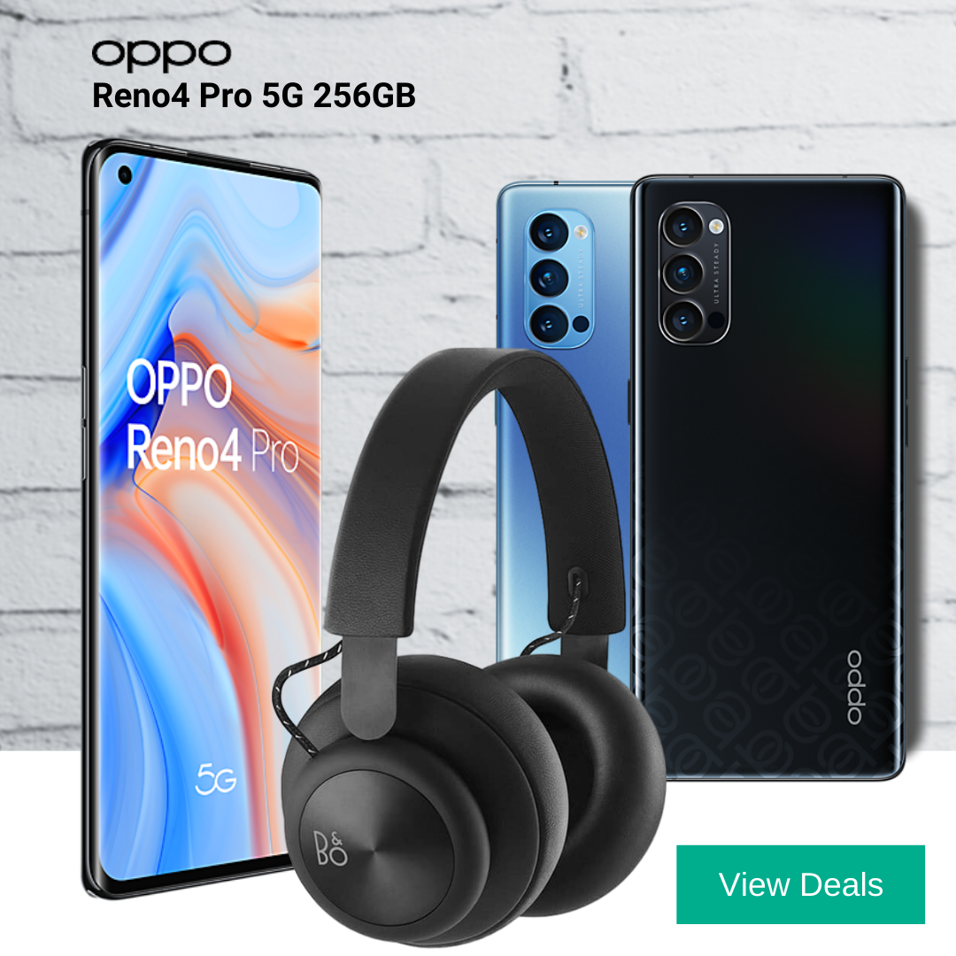 Oppo Reno4 Pro 5G deals with Free Bang & Olufsen H4 headphones
