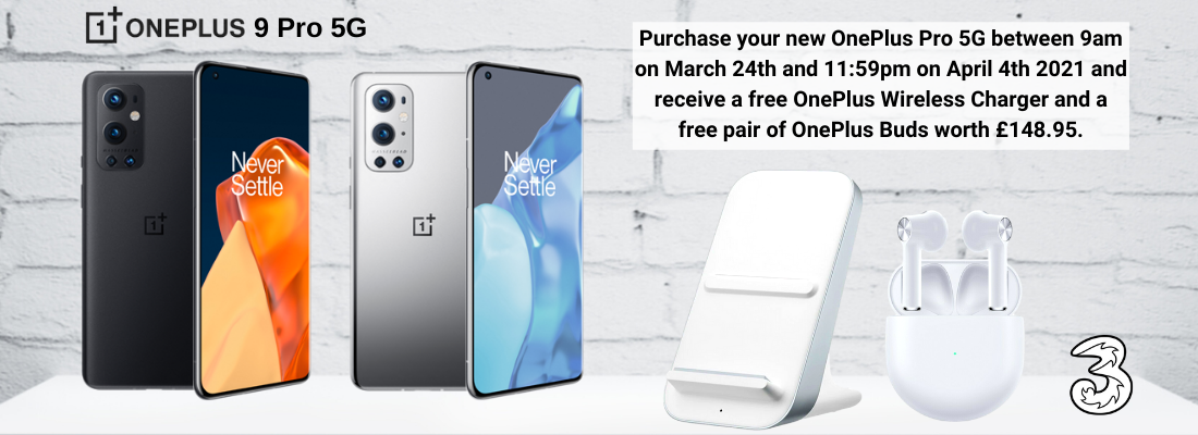 OnePlus 9 Pro contract deals with Free OnePlus Buds and Wireless Charger