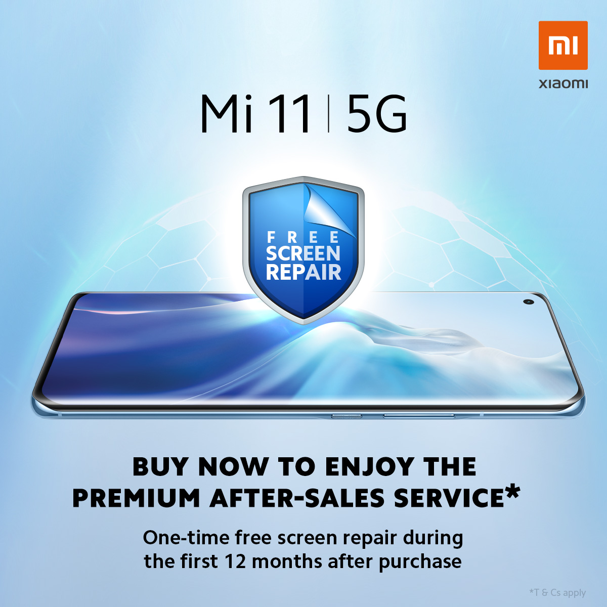 Free Screen Repair with Xiaomi Mi 11 deals