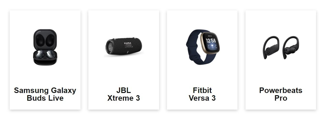 Free Samsung Galaxy Buds Live, JBL Extreme 3 Waterproof Bluetooth Speaker, FitBit Versa 3 Smartwatch + GPS or Powerbeats Pro earphones