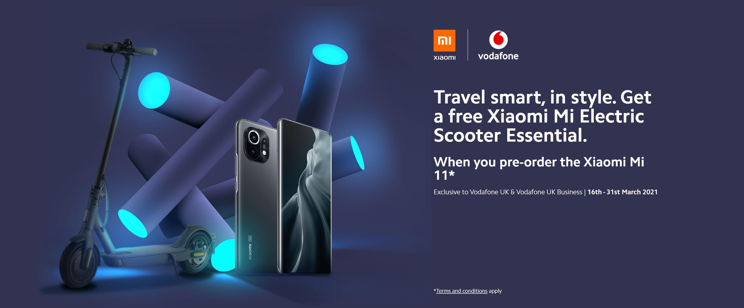 Free Mi Electric Scooter with Xiaomi Mi 11 Deals