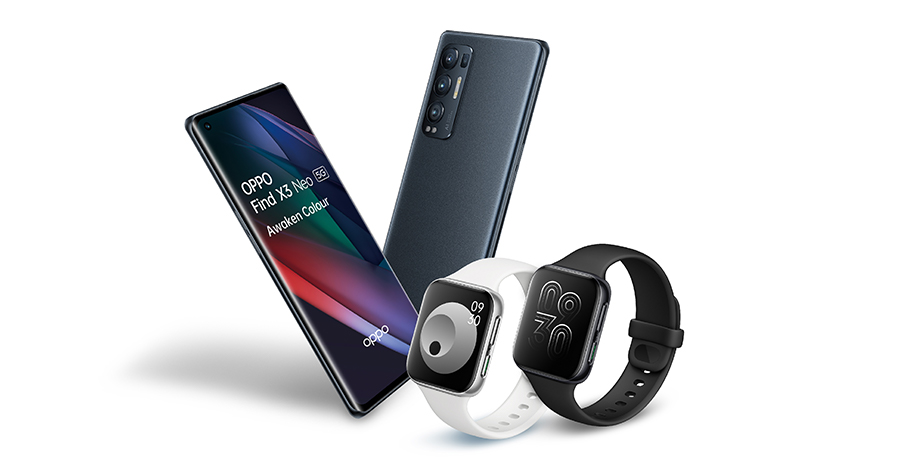 Oppo Find X3 Neo deals with Free Oppo Smart Watch worth £229