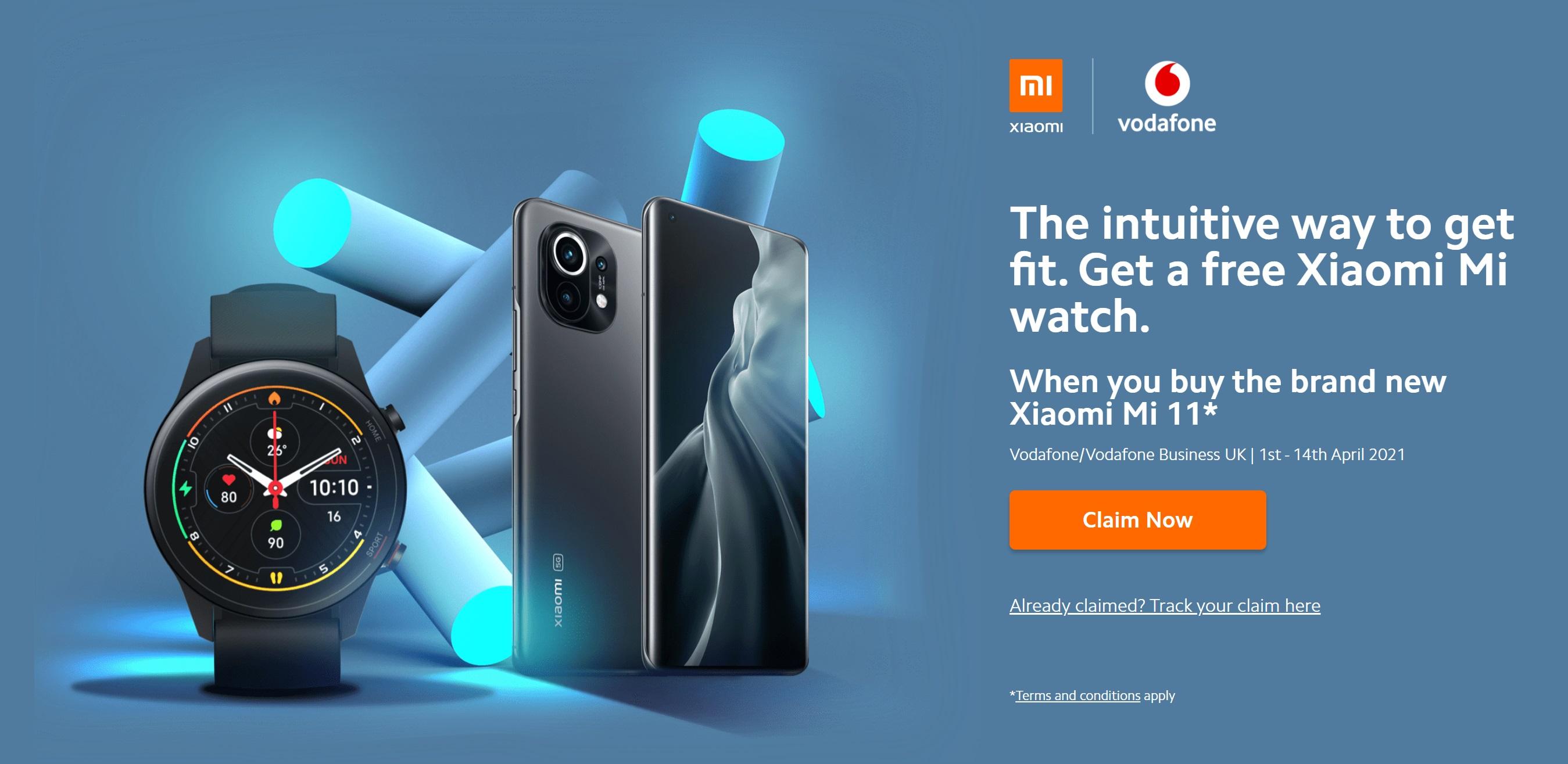 Xiaomi Mi 11 5G Deals with Free Xiaomi Mi Smart Watch worth £119