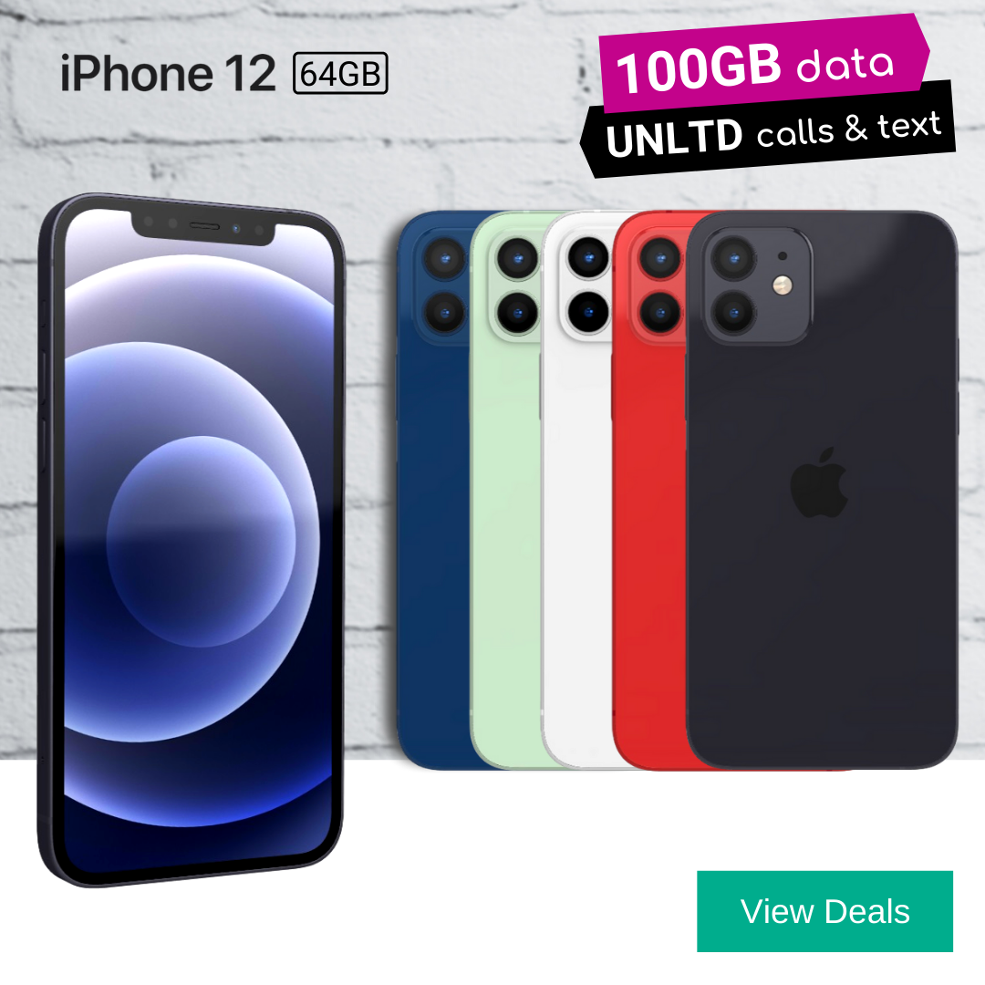 iphone 12 contract deals with 100GB data