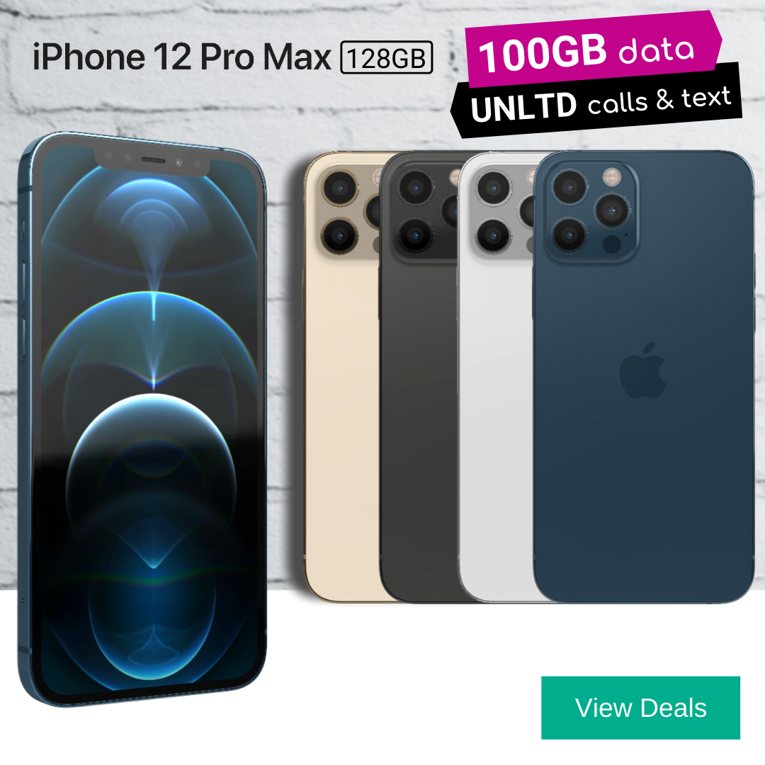 Cheapest 100GB data deals for iPhone 12 Pro Max