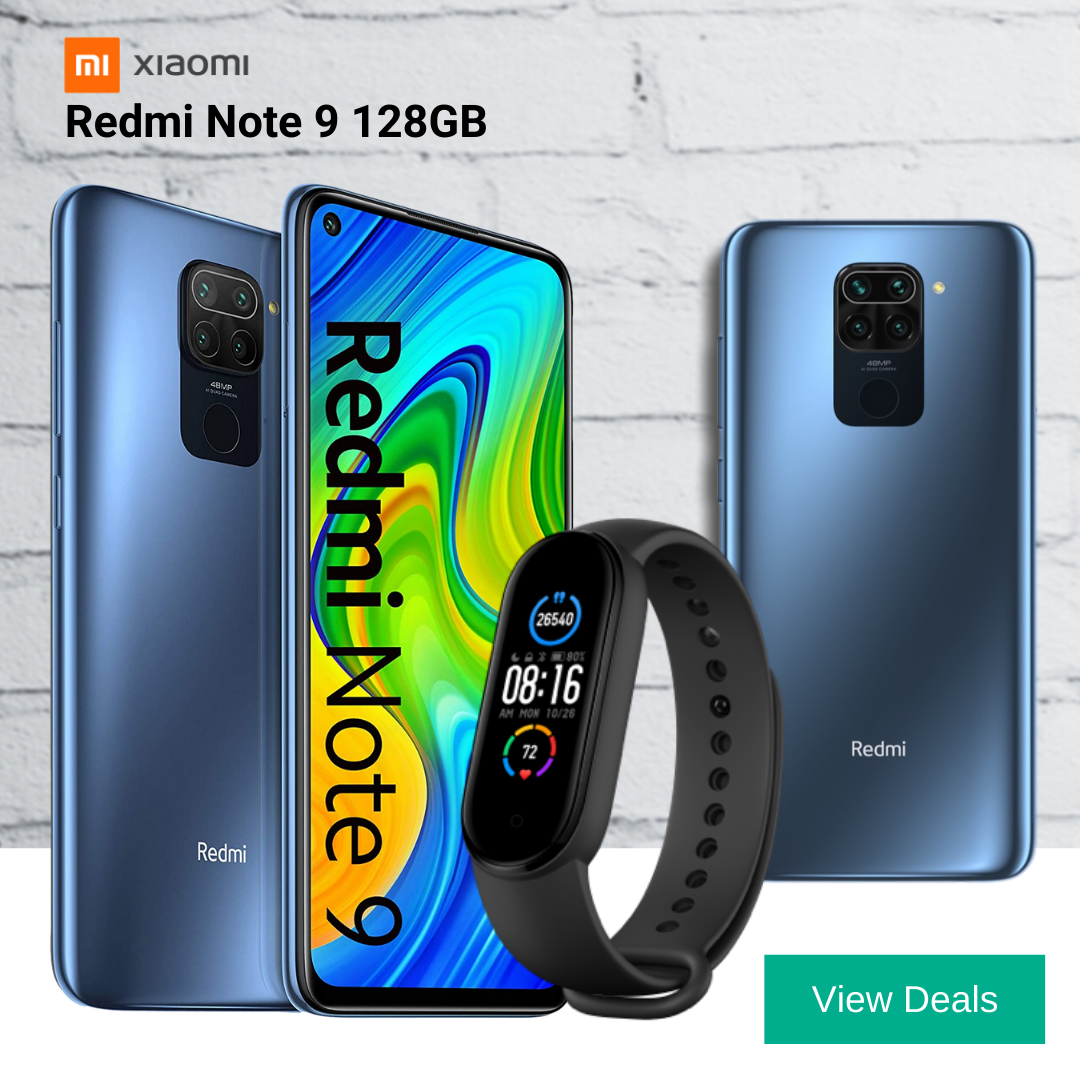 Xiaomi Redmi Note 9 contract deals with free Mi Smart Band 5