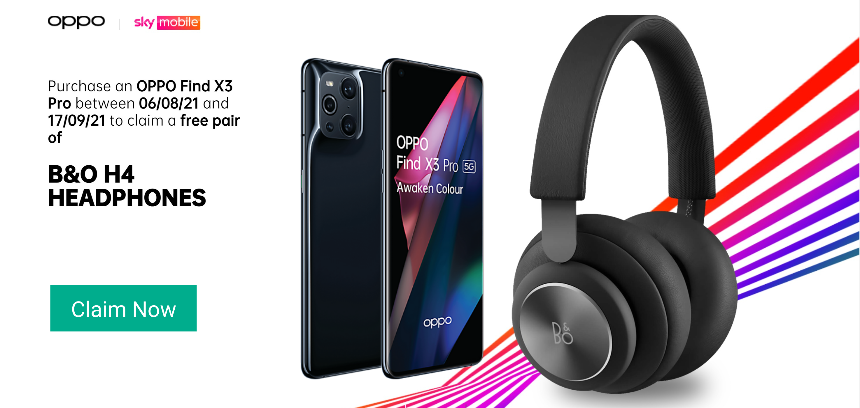 Oppo Find X3 Pro 5G deals with Free B&O Beoplay H4 headphones worth £230