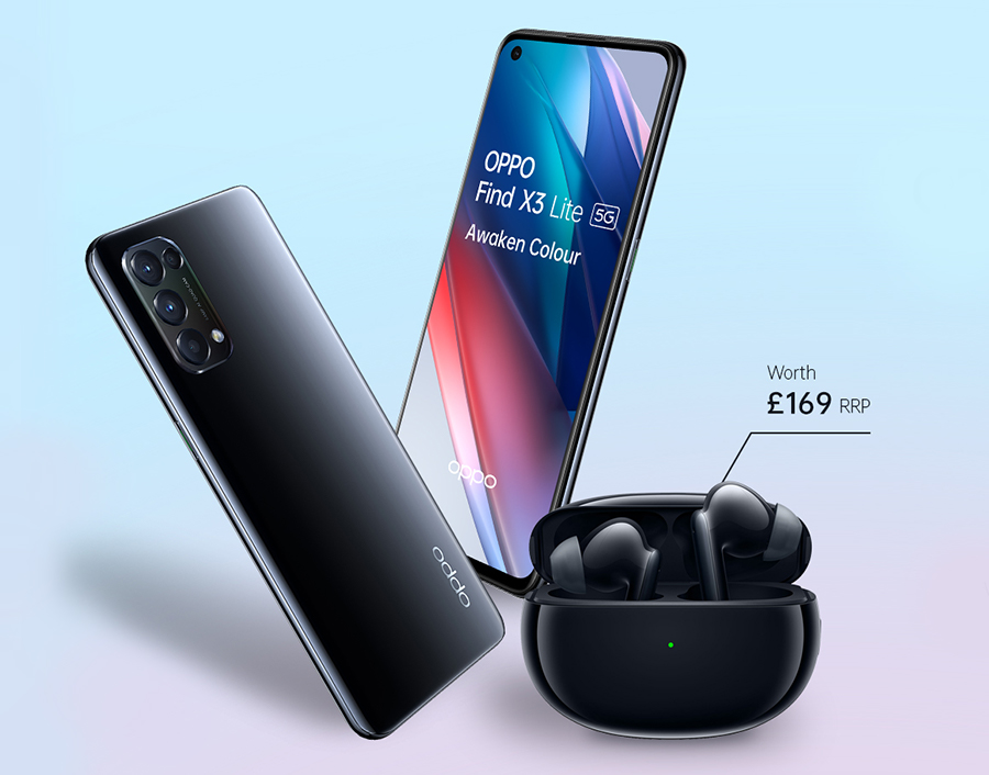 Free Enco X Headphones with Oppo Find X3 Lite contract deals