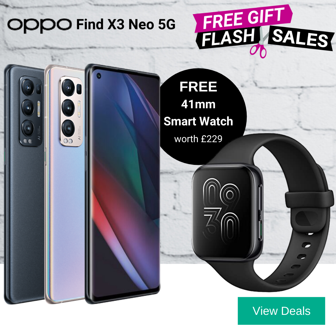 Free Oppo Smart Watch with Oppo Fins X3 Neo 5G Deals