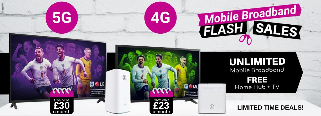 5G & 4G Home Broadband Best Deals with Free 4K HD TV