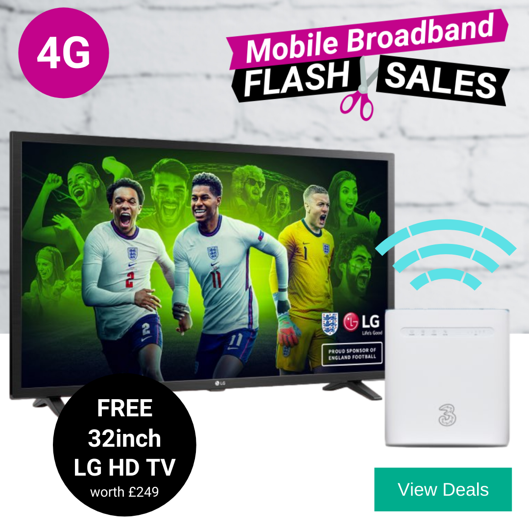 Best 4G home broadband deals with Free HD TV