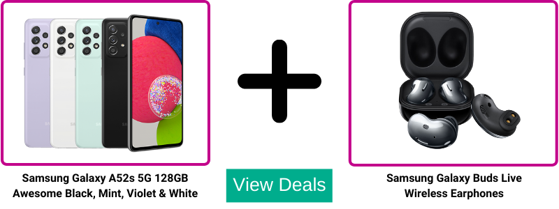 Free Galaxy Buds Live with Samsung A52s deals