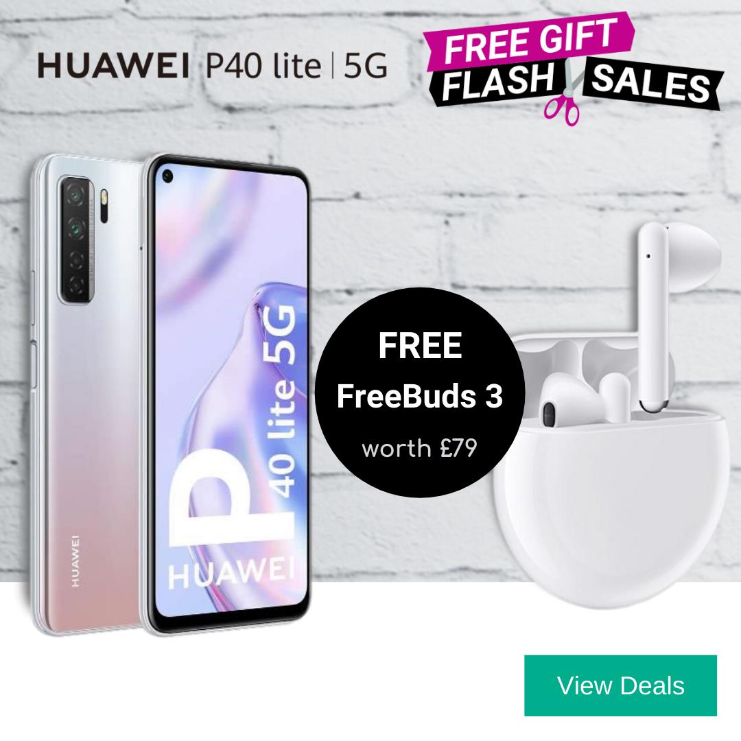 Free Huawei FreeBuds 3 with Huawei P40 Lite 5G deals